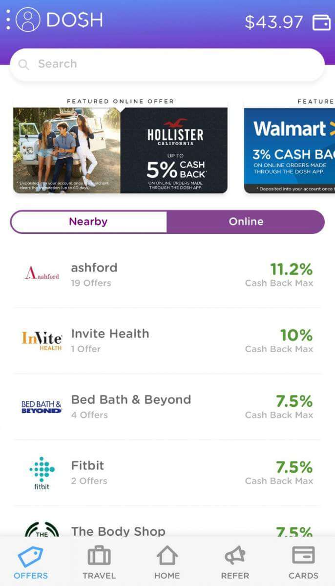 Dosh App Discounts for Users-Kids Are A Trip