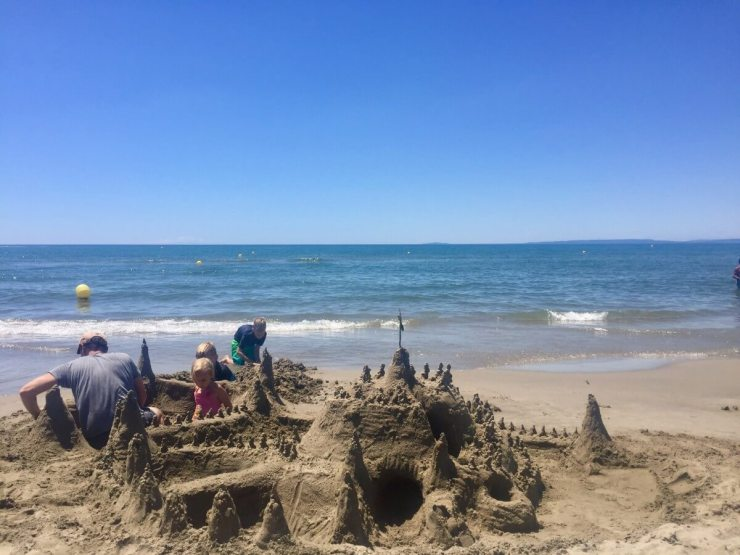 Best Beach for Sand Castles Plage de L'espiguette on the Mediterranean Sea
