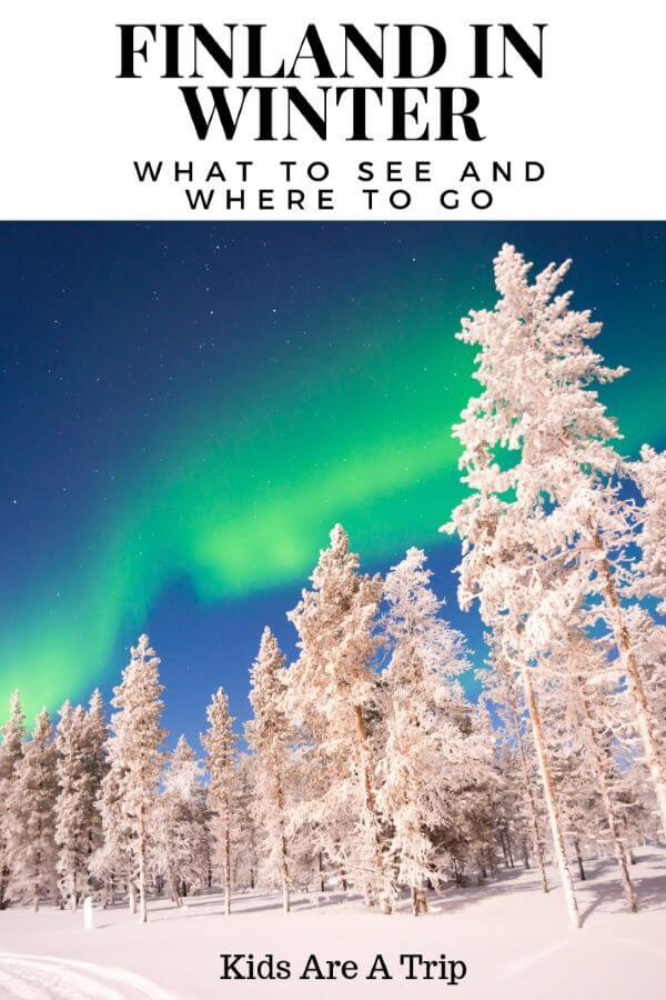 If you ever thought about planing a winter trip to Finland, you've come to the right place. We have the best places to visit in Finland and how to get there. Take a winter road trip to Finland with us. - Kids Are A Trip