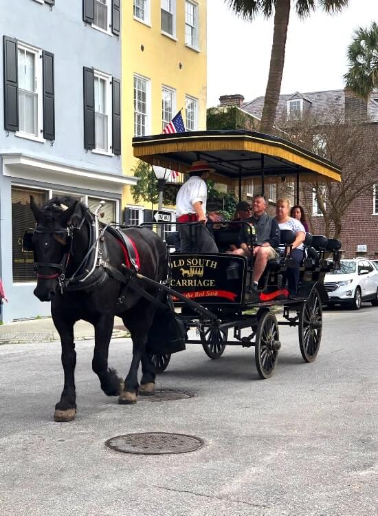 Carriage ride with Old South Carriage Company in Charleston SC makes a fun girlfriends' activity on a girls only trip. - Kids Are A Trip