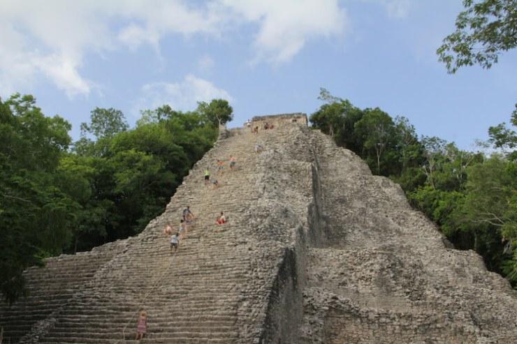 Climbing Coba Ruins Mexico - Sarah Coble