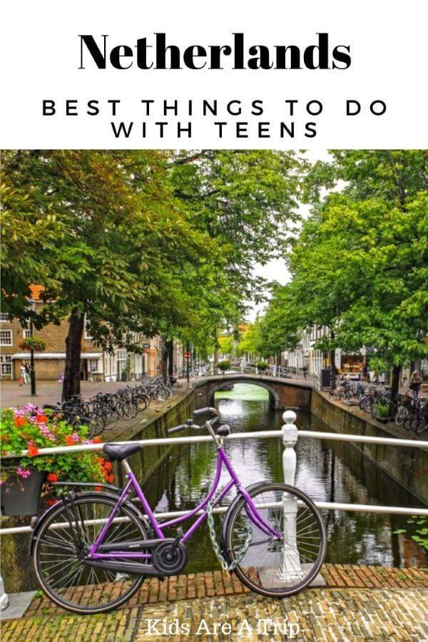 Canal Netherlands with Bicycle on Bridge-Kids Are A Trip