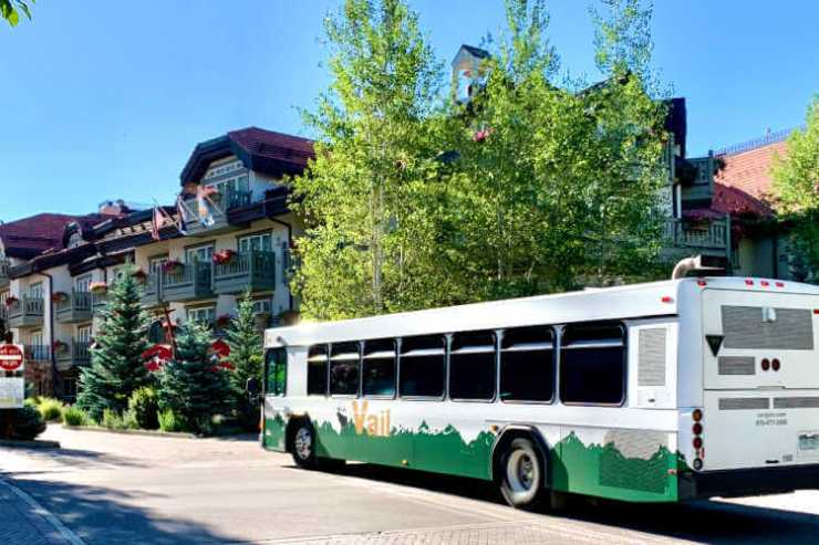 Free transportation in Vail bus-Kids Are A Trip