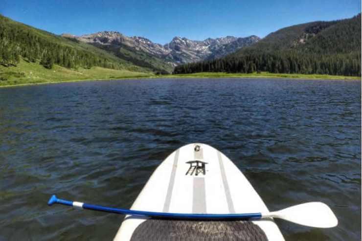 Paddle Board near Vail at Piney Lake