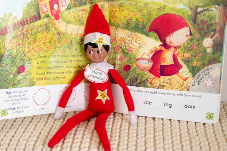 Easy Elf on the Shelf ideas sticker book-Kids Are A Trip