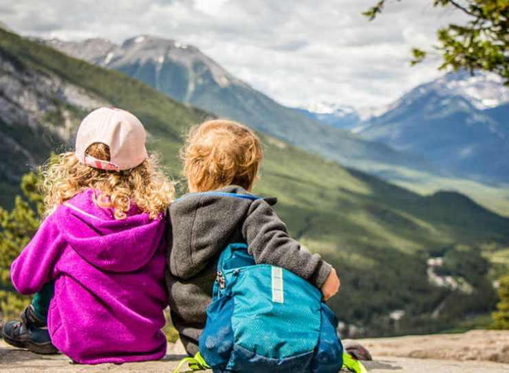 Two children in Banff