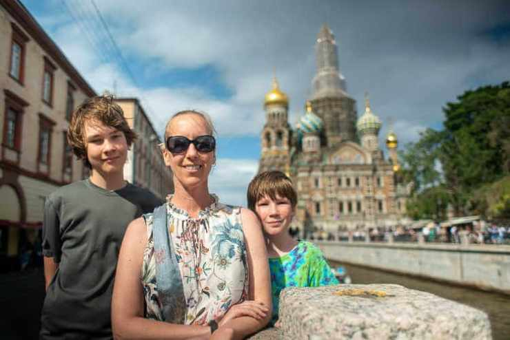 TravelingMel and family St Petersburg Russia