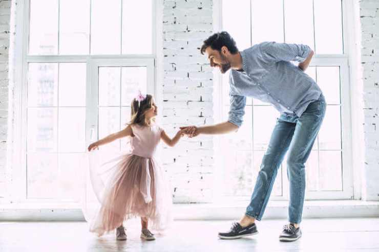 Father daughter dancing-Kids Are A Trip