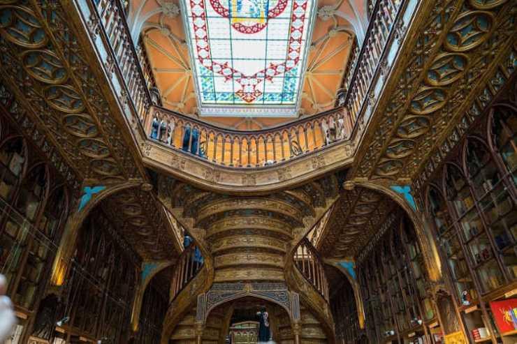 Livraria Lello Porto interior