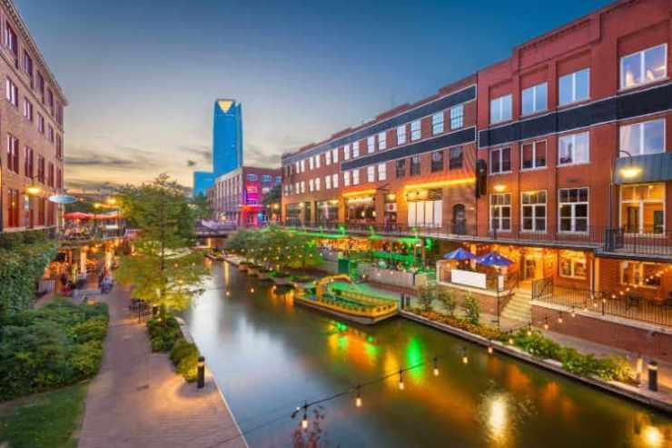 Oklahoma City Bricktown Canal-Kids Are A Trip