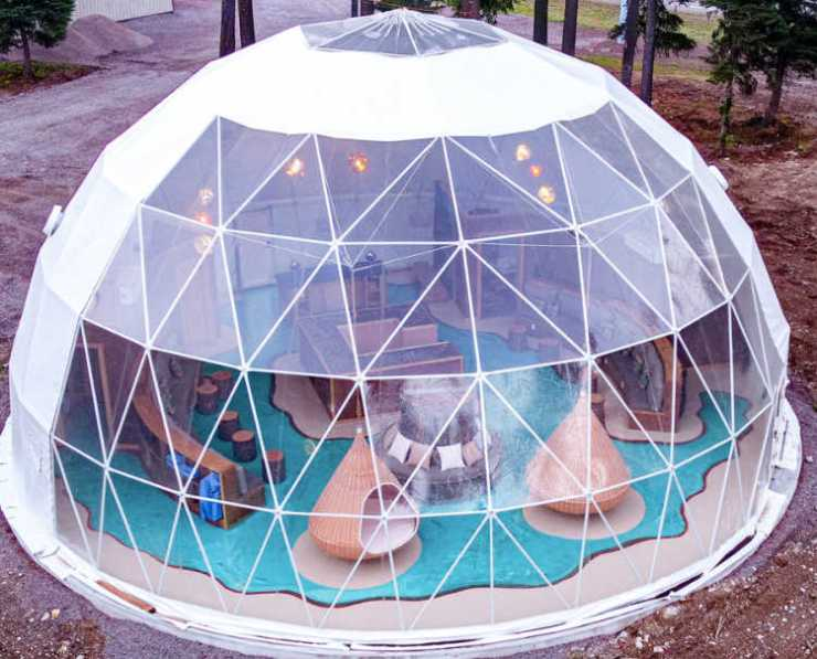 Clear Sky resort dome tent