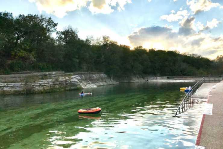 Barton Springs Pool Austin Texas with kids