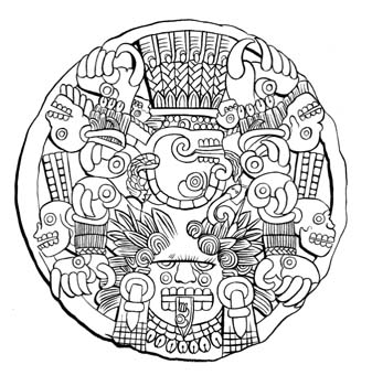 Aztec Designs Coloring Book Art Education