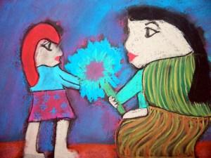 Diego Rivera style soft pastel