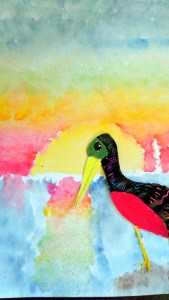 Impressionism with a pelican!