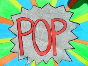 Lichtenstein style pop art!