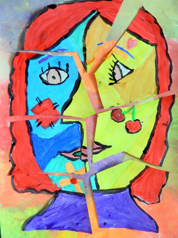 Picasso Cubism Faces