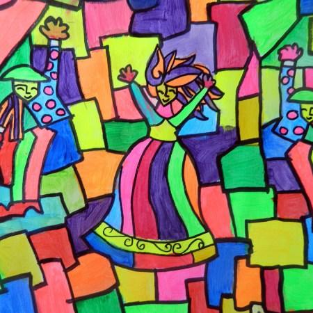 Romero Britto style pop art