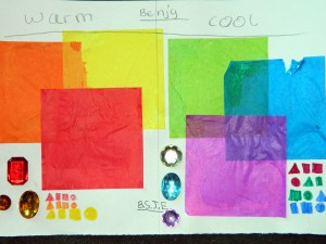 Warm and cool colour theory
