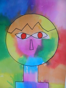 Paul Klee inspired Head
