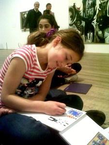 Sketching at Tate Modern