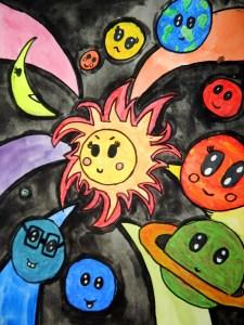 Laurel Burch inspired suns