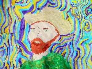 van Gogh style 3/4 portrait