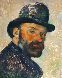Self Portrait with Bowler Hat Sketch 1885 1886 Painting by Paul Cezanne; Self Portrait with Bowler Hat Sketch 1885 1886 Art Print for sale