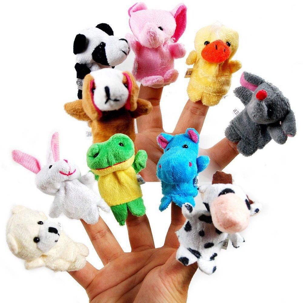 baby plush animal finger