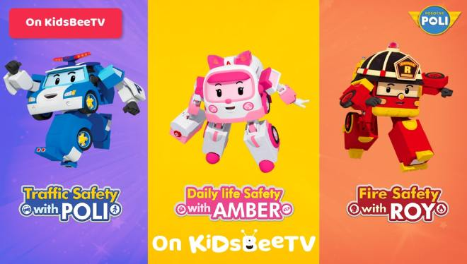 Featured Image Watch Robocar Poli, Roy and Amber on KidsBeeTV safe video app   Poli Cartoon   Parents & Kids Blog Article   utube kids   safe utube   KidsBeeTV Blog