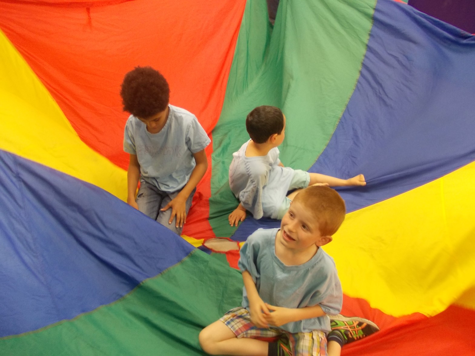 Playing with parachute