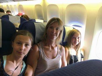 Kurz vor Abflug in Boing 777