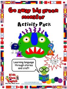 Go Away Big Green Monster Activity Pack preview pages - link to mindingkids purchase page