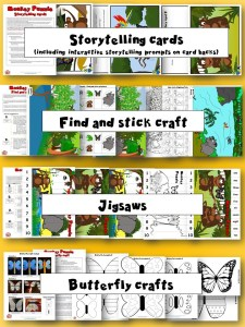 Monkey Puzzle Activity Pack thumbnails preview