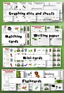 Walking through the jungle Activity pack - Learn english through craft - kids club english