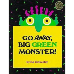 Go Away Big Green Monster book cover - link to story resources page