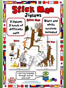 Stick Man jigsaws - learn english through stories and craft