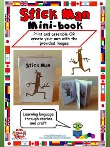 Stick Man mini book - learn english through stories and craft