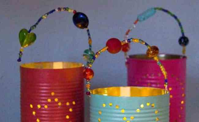 Homemade Gifts Tin Can Lanterns Kids Craft Room