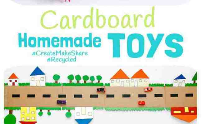 Cardboard Homemade Toys Kids Craft Room