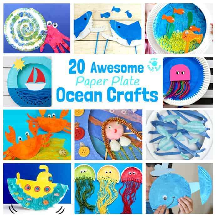 Thanksgiving is one of everybody's favorit. 20 Awesome Paper Plate Ocean Crafts Kids Craft Room