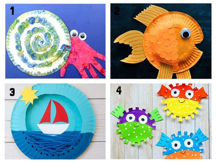 Perfect for beginner crafters and little hands, we have plenty of tips to teach you and your little ones the basics of crafting to get you started. 20 Awesome Paper Plate Ocean Crafts Kids Craft Room