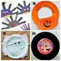 20+ Fun Paper Plate Halloween Crafts - Kids Craft Room