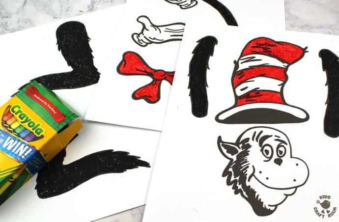 Paper Bag Cat In The Hat Puppets Kids Craft Room