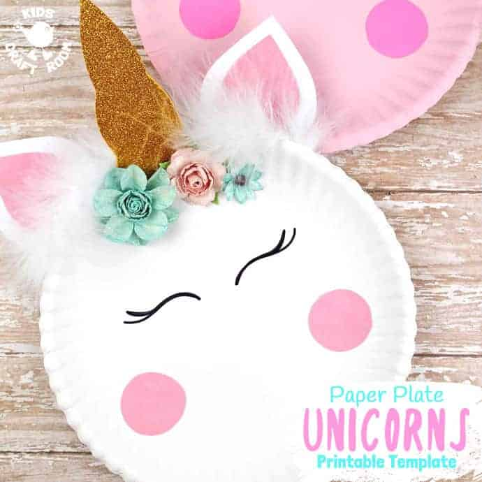 simple paper plate unicorn
