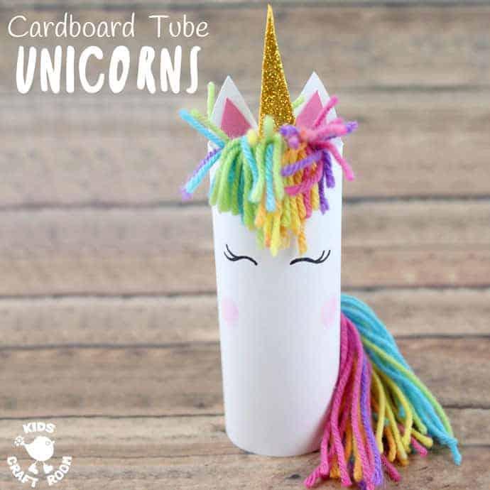 Cardboard Tube Unicorn Craft Kids Craft Room