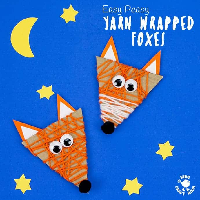 What a lovely autumn accessory for kids to sew! Easy Yarn Wrapped Fox Craft Kids Craft Room