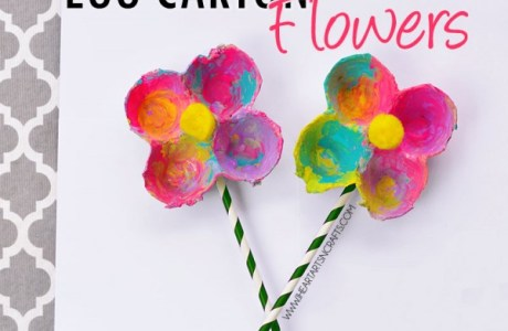 Keep The Kids Busy With Egg Carton Flowers
