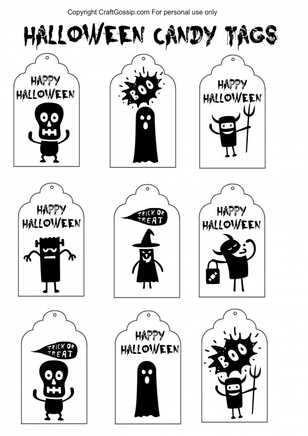 DIY Halloween Printable Labels