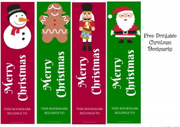 photograph about Printable Christmas Bookmarks named Totally free Xmas Bookmark Printable